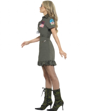Adult Deluxe Top Gun Female Costume - Back View