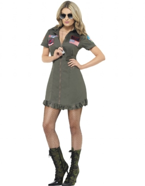 Adult Deluxe Top Gun Female Costume Thumbnail