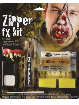 Deluxe Zombie Zipper FX Make Up Kit