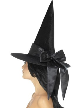 Deluxe Witch Hat with Black Bow
