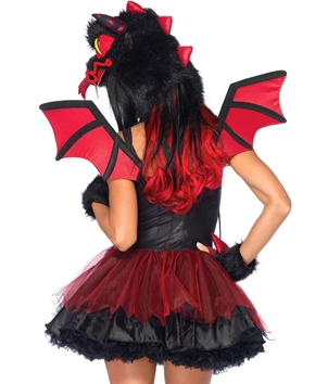 Adult Demon Dragon Costume - Back View