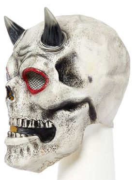 Demon Skull Full Head Mask - Side View