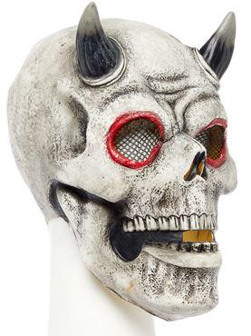 Demon Skull Full Head Mask - Back View