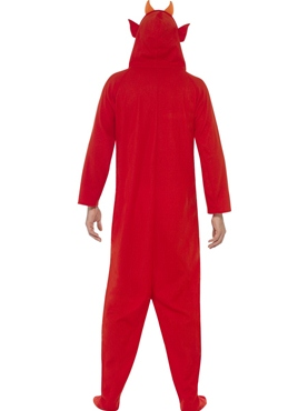 Adult Devil Onesie Costume - Side View