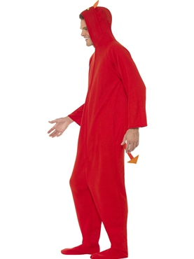 Adult Devil Onesie Costume - Back View