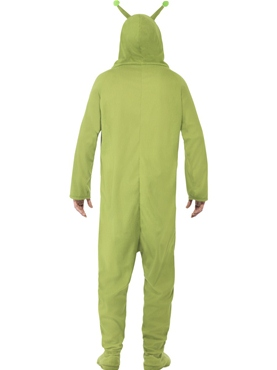 Adult Alien Onesie Costume - Side View