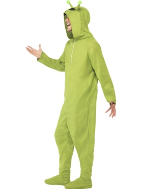 Adult Alien Onesie Costume - Back View