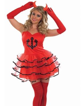 Adult Devil Tutu Costume - Back View