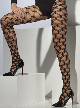 Diamond Net Black Tights