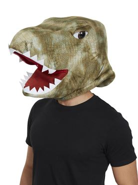 Dinosaur Mascot Mask - Back View