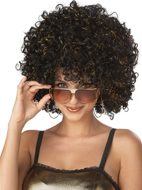 Adult Disco Tinsel Afro Wig