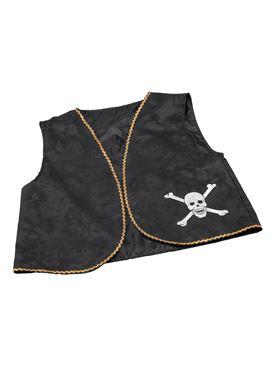 Distressed Black Pirate Waistcoat
