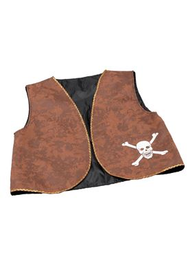 Distressed Brown Pirate Waistcoat