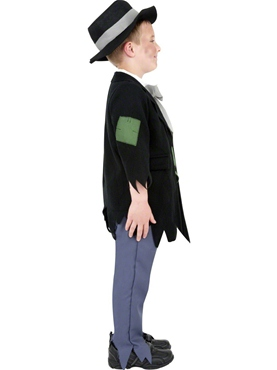 Child Dodgy Victorian Boy Costume - Back View