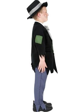 Child Dodgy Victorian Boy Costume - Back View