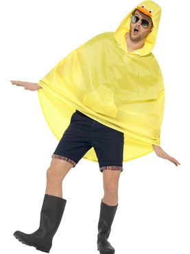 Duck Party Poncho Festival Costume - Back View