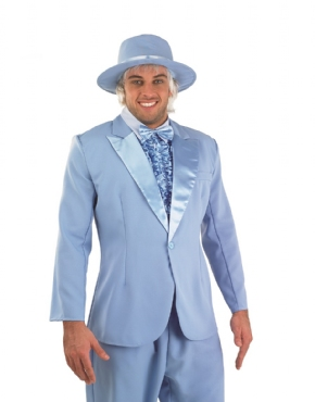 Adult Dumb & Dumber Harry Dunne Christmas Tuxedo Costume - Back View