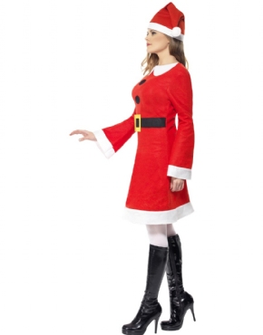 Adult Miss Santa Costume - Back View