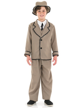 Child Edwardian Boy Costume - Back View