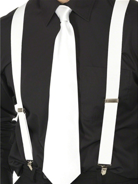 Elasticated Braces White