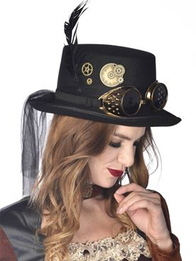 Elegant Ozzy Steampunk Top Hat