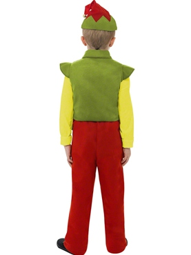 Child Elf Boy Costume - Side View