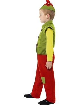 Child Elf Boy Costume - Back View