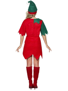 Adult Ladies Elf Costume - Back View