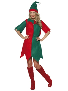 Adult Ladies Elf Costume Couples Costume