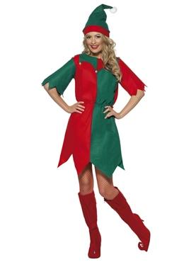 Adult Ladies Elf Costume Couples Costume