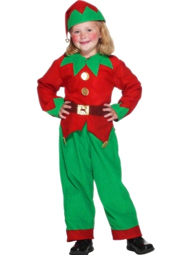 Child Elf Costume - Back View