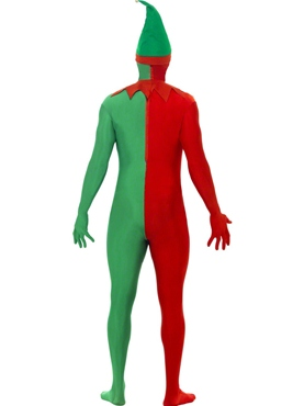 Adult Elf Second Skin Costume - Side View