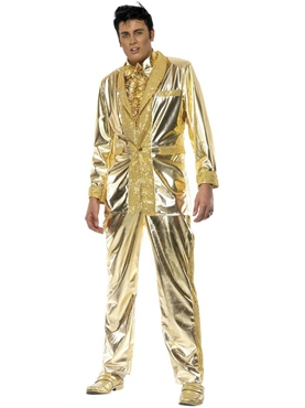 Adult Elvis Costume Gold