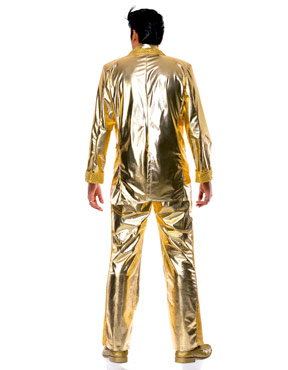 Adult Elvis Costume Gold - Back View