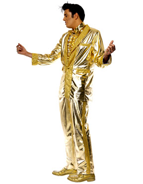 Adult Elvis Costume Gold - Side View