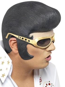 Elvis Headpiece Black And Gold