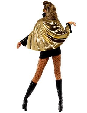 Adult Elvis Viva Las Vegas Black Costume - Back View