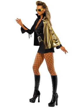 Adult Elvis Viva Las Vegas Black Costume - Side View