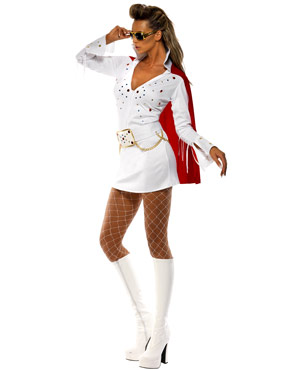 Adult Elvis Viva Las Vegas Costume - Side View