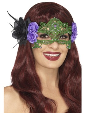 Embroidered Filigree Witch Eyemask