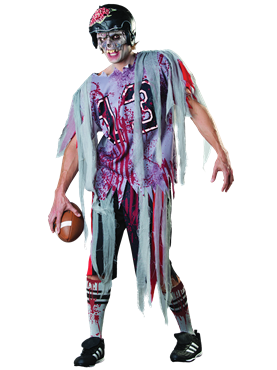 Adult End Zone Zombie Costume Couples Costume