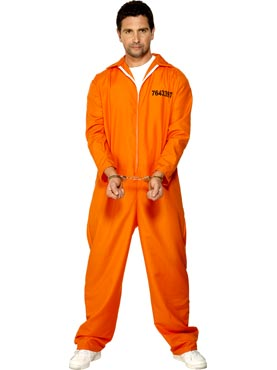 Adult Escaped Prisoner Costume Couples Costume