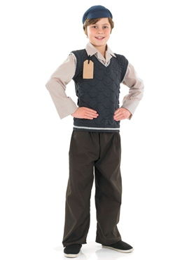 Child Evacuee School Boy Costume
