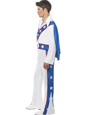 Adult Evel Knievel Costume - Side View