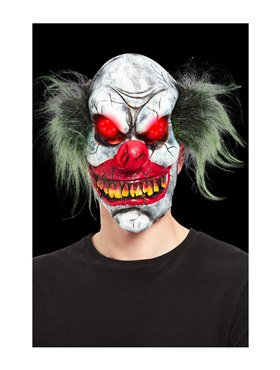 Evil Clown Overhead Mask - Back View