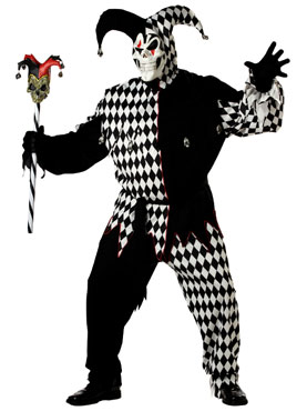 Adult Plus Size Evil Jester Costume