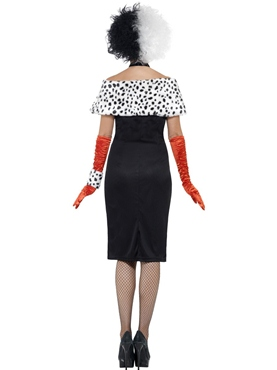 Adult Evil Madame Cruella Costume - Back View