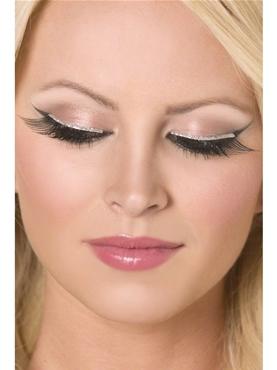 Eyelashes Silver Glitter Diva