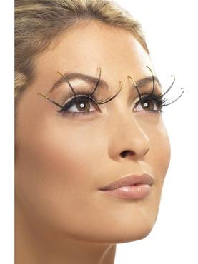 Eyelashes with Long Golden Tips