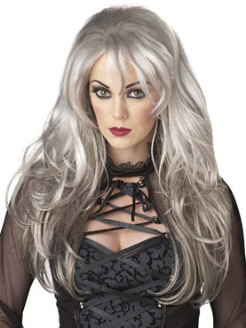 Adult Grey Fallen Angel Wig